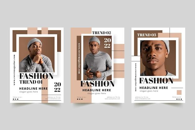 Couverture de magazine avec photo
