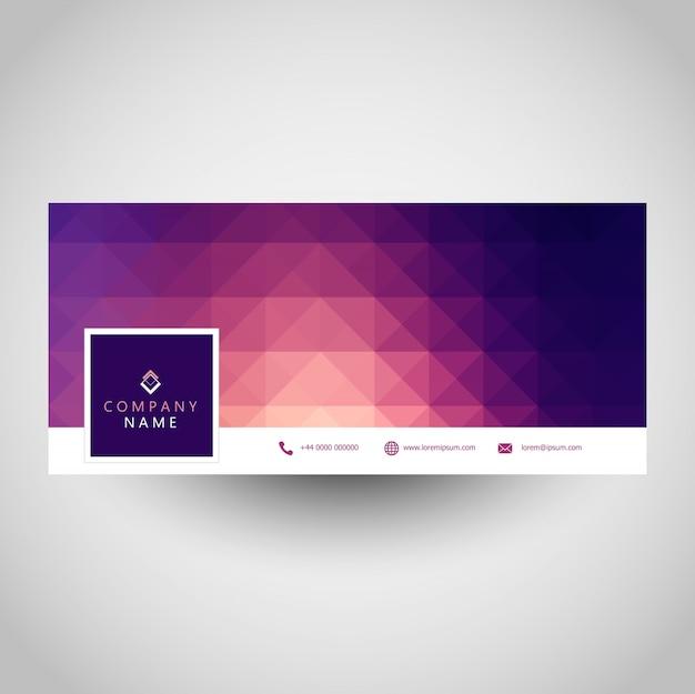 Couverture de médias sociaux avec un design géométrique