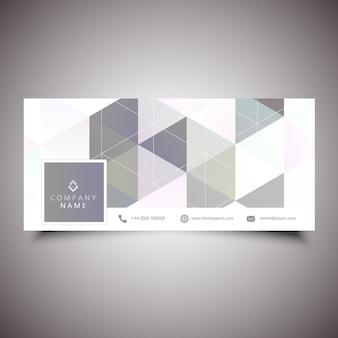 Couverture de médias sociaux avec design low poly