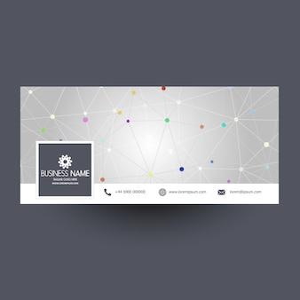 Couverture des médias sociaux avec un design techno