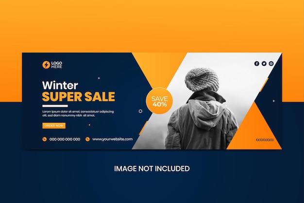 Couverture des médias sociaux des soldes d'hiver