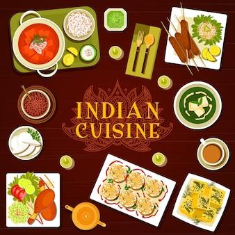 Couverture de menu de repas de menu de cuisine indienne
