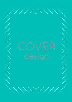 Couverture minimale abstraite avec des vagues géométriques et des dégradés. disposition tendance avec demi-teinte. modèle de couverture minimale abstraite pour livre, bannière, invitation et affiche. illustration d'entreprise futuriste.