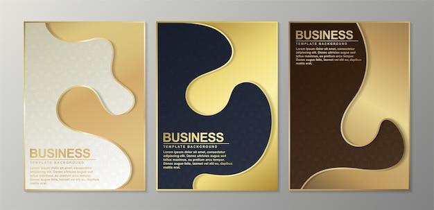 Couverture minimale en or. abstrait géométrique