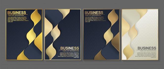 Couverture minimale en or. conception d'affiche abstraite géométrique.