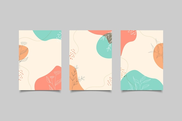 Couverture minimaliste de forme abstraite dessinée à la main