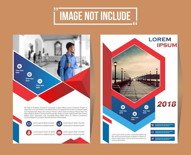 Couverture et mise en page pour la présentation et le marketing