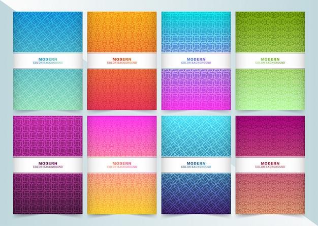Couverture moderne minimale avec ligne géométrique abstraite
