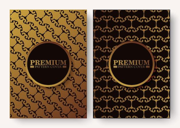 Couverture de motif élégant en couleur or