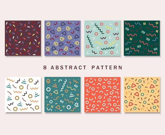 Couverture de motifs colorés abstraits
