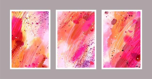Couverture de nuances abstraites de couleurs chaudes