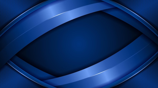Couverture de page créative noir foncé et bleu dégradé abstrait technologie entreprise entreprise