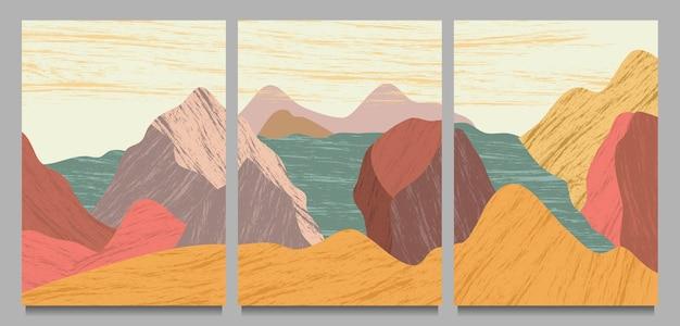 Couverture de paysage nature abstraite