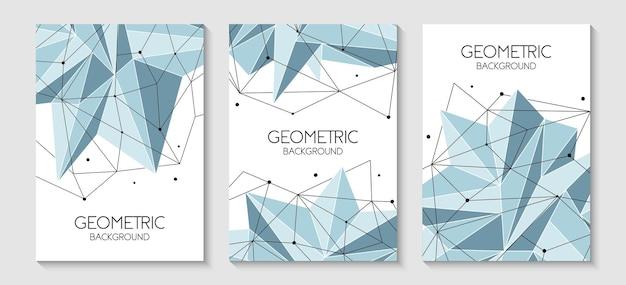 Couverture poly faible de modèle futuriste abstrait polygonale