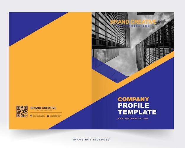 Couverture de profil d'entreprise et couverture arrière