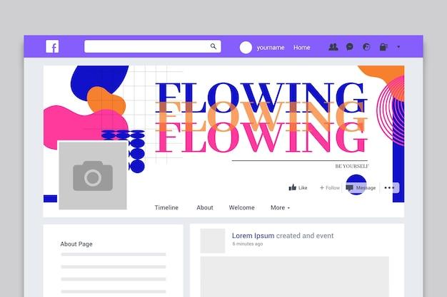 Couverture de profil facebook générale abstraite moderne