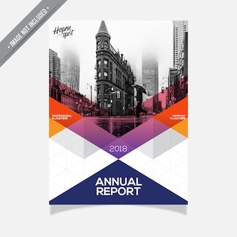 Couverture rapport annuel modèle d'entreprise