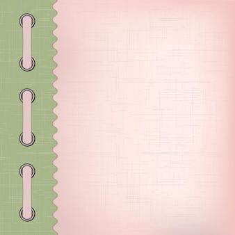 Couverture rose pour un album avec des photos. illustration vectorielle