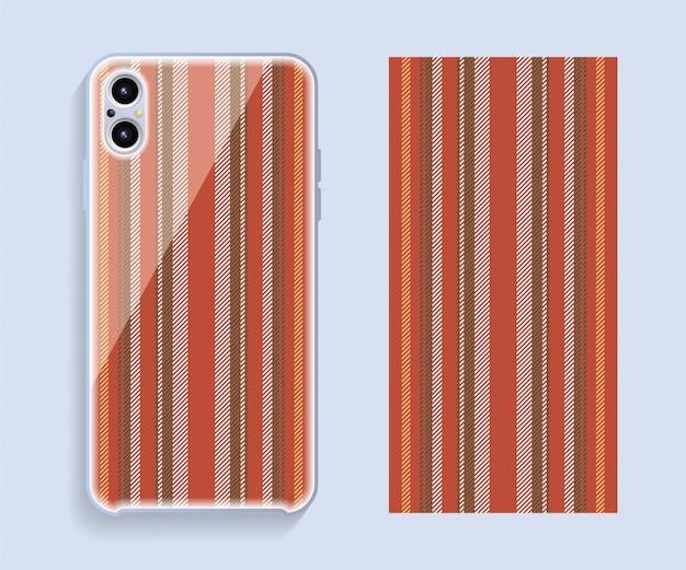 Couverture de téléphone portable. modèle de modèle de cas de smartphone.