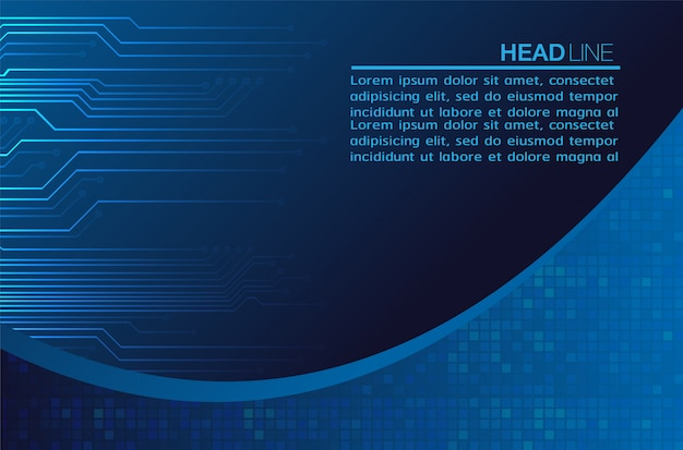 Couverture de texte abstrait bleu
