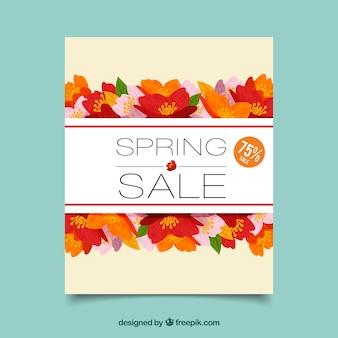 Couverture de vente de printemps coloré