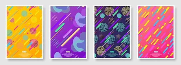 Couvertures abstraites sur fond transparent disponibles dans le panneau nuancier