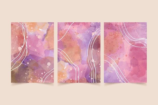 Couvertures aquarelles abstraites
