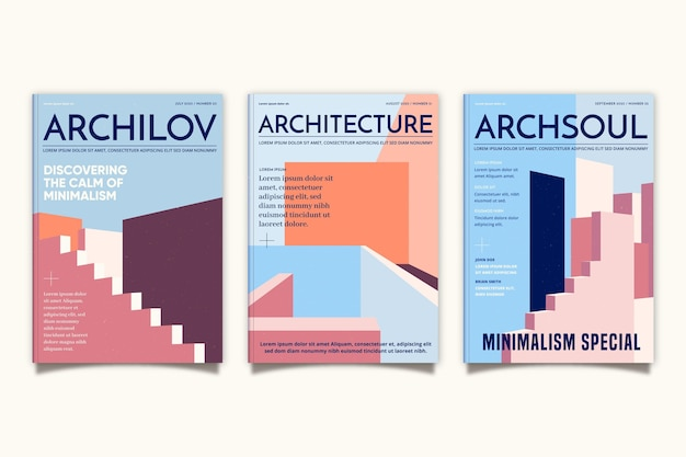 Couvertures d'architecture minimale