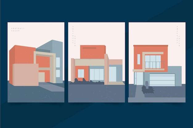 Couvertures d'architecture de modèle minimal