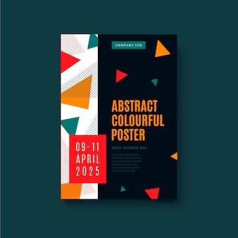 Couvertures colorées abstraites avec des triangles
