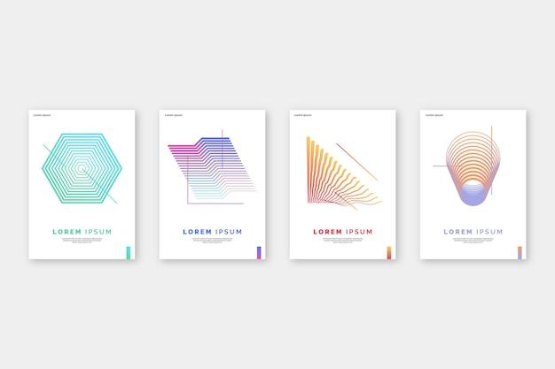 Couvertures colorées abstraites
