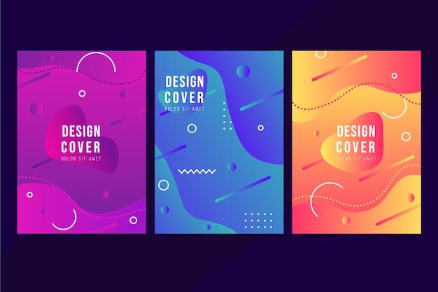 Couvertures colorées de conception abstraite