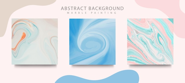 Couvertures de conception de peinture à l'encre liquide abstraite. mélange de texture de marbre de couleur.