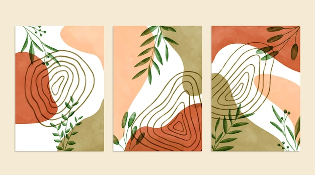 Couvertures dessinées à la main à l'aquarelle
