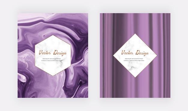 Couvertures d'encre liquide violettes pour les invitations