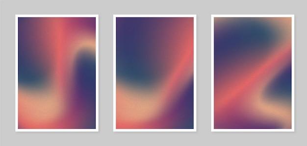 Couvertures floues abstraites dégradées