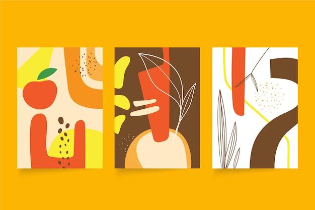 Couvertures de formes abstraites dessinées à la main