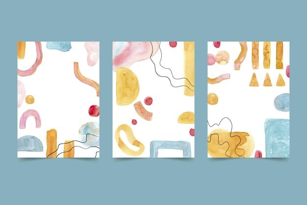 Couvertures de formes aquarelles abstraites