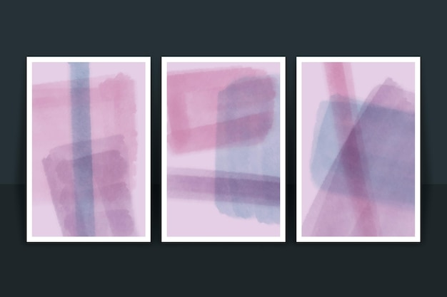 Couvertures de formes de conception abstraite