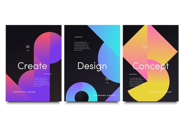 Couvertures de formes de dégradé géométrique