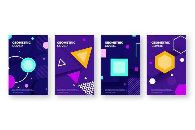 Couvertures de formes géométriques abstraites