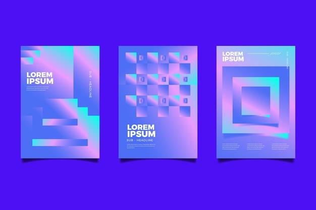 Couvertures géométriques colorées abstraites