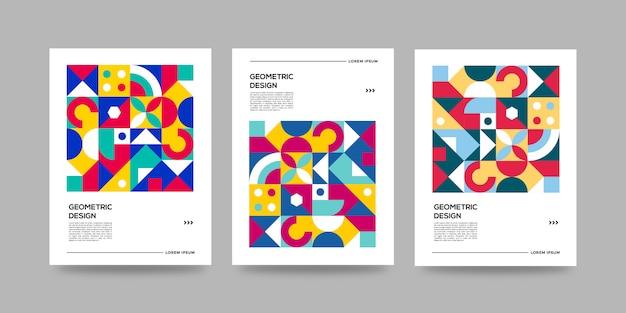 Couvertures géométriques rétro d'affaires