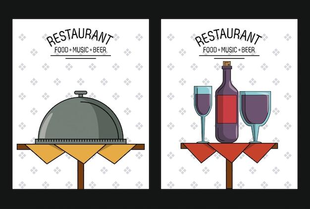 Couvertures de menu de restaurant