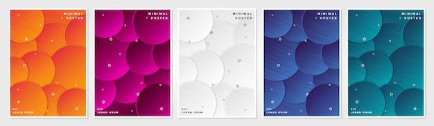 Couvertures minimales, abstrait fond géométrique