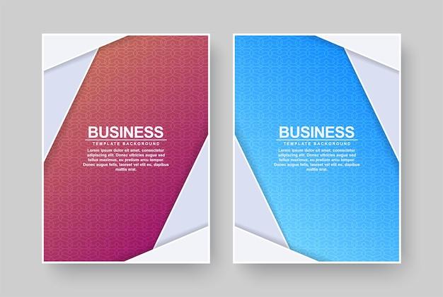 Couvertures minimales colorées abstraites