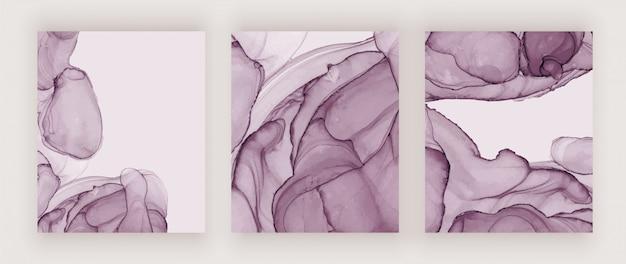 Couvertures de texture d'encre violet alcool. abstrait aquarelle peint à la main.