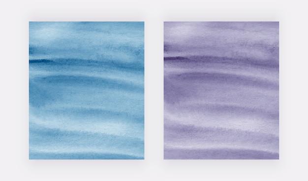 Couvre aquarelle de coup de pinceau bleu et violet