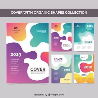 Couvre la collection avec des formes organiques