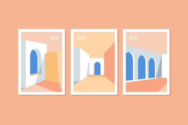 Couvre la collection de modèles d'architecture minimale